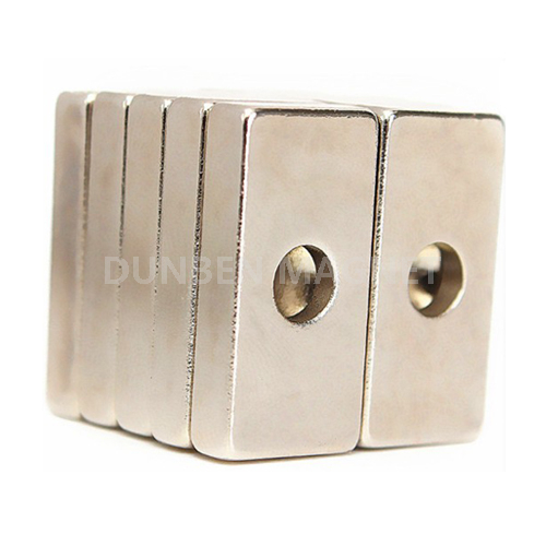 Block Magnet 20mm x 10mm with 4mm Countersunk Rare Earth Neodymium Magnet