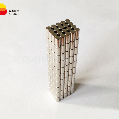 Permanent super cylinder neodymium magnet with Ni coating D6.3* 6.3 mm