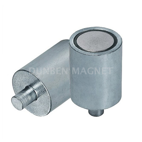 AlNiCo Holding Magnet With External Threaded, Deep Pot Holding Magnet AlNiCo with neck / pin, Bar Cylindrical Rod AlNiCo Magnet steel body with neck