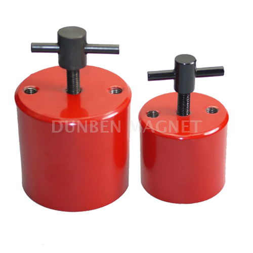 Red Painted Strong Powerful Alnico Hook Mounting Pot magnet , Magnetic Hook, Magnetic Holdfast