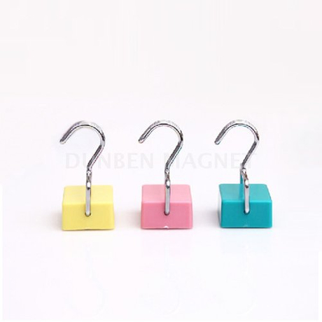 Square Magnetic Robe Hooks, Square Magnetic Coat Hooks Brief Seamless Super Suction Magnetic Hooks Microwave Refrigerator Hanging Hook Oven Magnets Refrigerator Door Magnetic Hook Refrigerator Sticker