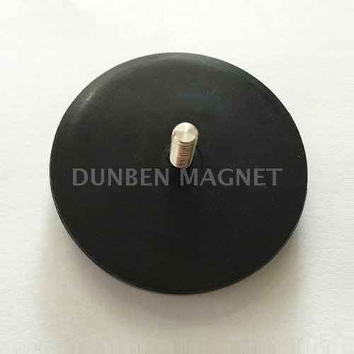 Rubber Coated Neodymium Pot Magnet With External Threaded,Magnetic Cup Assemblies with rubber coated ,Magnetic Hook With Thread Rod,Magnetic Holding Magnet ,Magnet Systems with Internal Thread