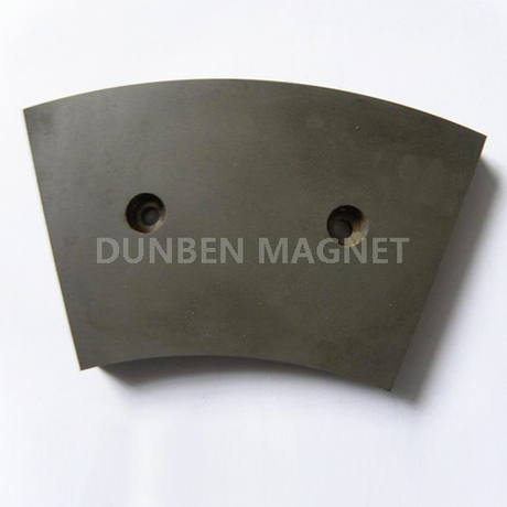 Permanent AlNiCo Segment arc Magnet with Holes for Industrial Use, Motor, Generator
