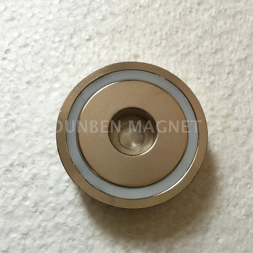 Strong Power Neodymium Mounting Pot Magnet with Flat Hole,Holding Power Neodymium Cup pot Magnet With Cylindrical Borehole
