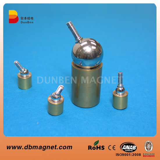Magnetic Universal Joint, Magnetic Ball Joints Assembly,Brass Cylinder Nickel Ball Neodymium Magnetic Ball Joint,Strong Powerful Neodymium Ball Joint Magnets