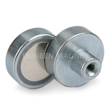 Galvanized Powful NdFeB Pot Magnet with Internal Female Thread,Powerful Magnetic Holding Pot Magnet ,Strong Ultra Cup Magnet , Mounting Pot Magnet, Magnetic Mount Clamping , Holding Magnets