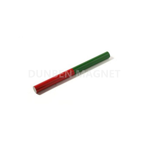 Red Painted Round Bar Alnico Educational Magnets