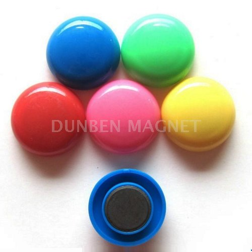 Mushroom Shaped Plastic whiteboard magnet,colorful flat round whiteboard magnet,Office Round Magnets button Cap,Plastic Magnetic Pushpin
