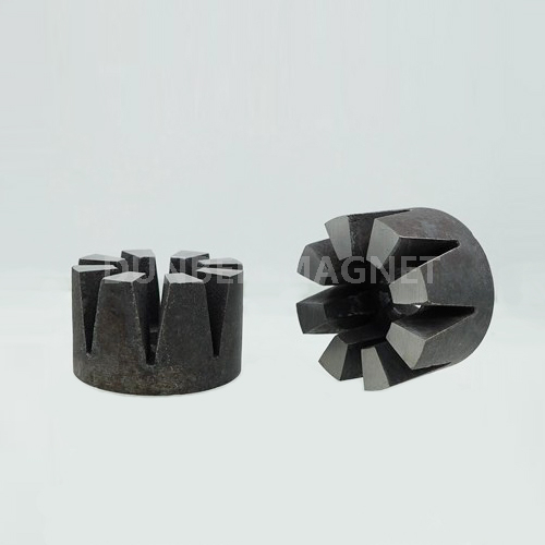 8 poles cast alnico multipoles rotor magnet